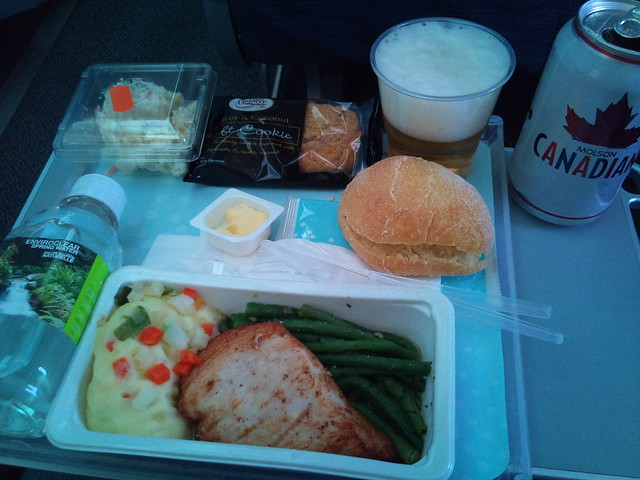 Air Canada food. Pretty lame.