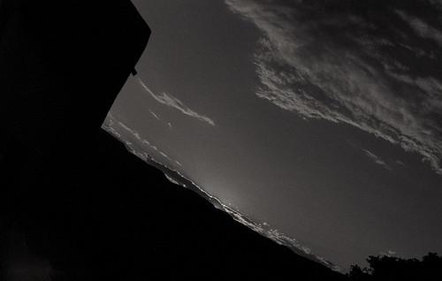 sunset bw film inmyyard f3hp nikon50mmf14d ilforddelta3200professional stream:timeline=linear