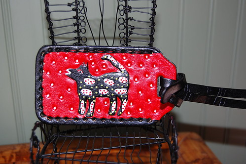 Black Dog Luggage Tag | by leatherarts