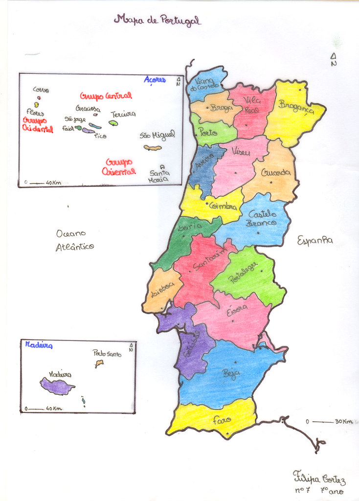 Portugal Distritos E Ilhas Mapa Produzido Pela Filipa 7 Flickr