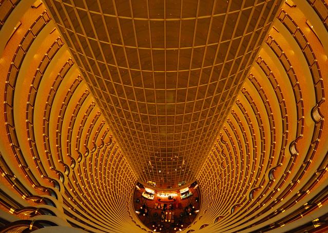 Shanghai - Jin Mao Tower Grand Hyatt Lobby (The cliched view)
