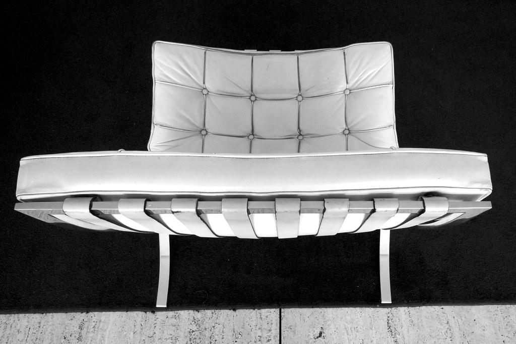 Barcelona chair in situ