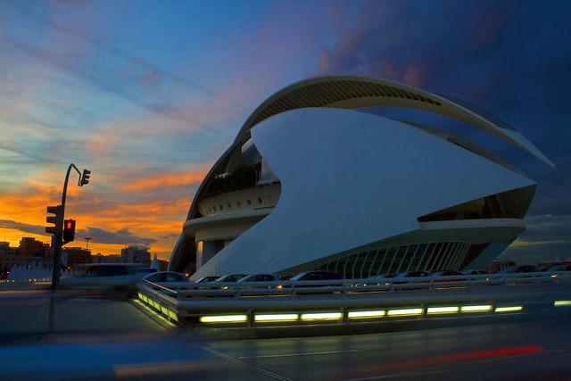 Valencia Sunset at Science Park