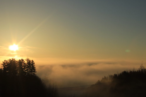 sunset sunrise interesting earlymorning rise sunsun fogmontpelierlandscapesky