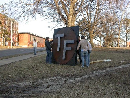 Giant T/F sign | by Mr Shiv