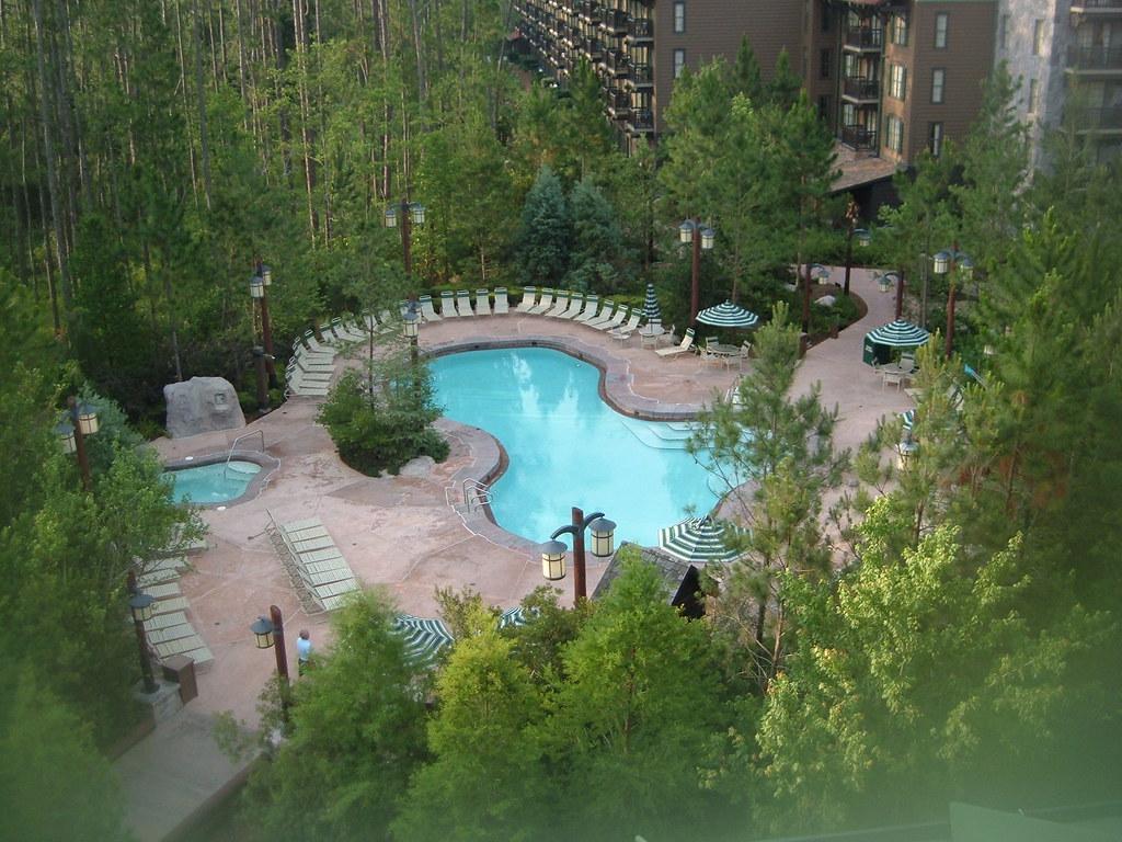 Quiet Pool Area Wilderness Lodge Walt Disney World