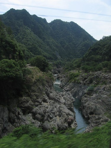 river gorge, somewhere south of takayama   by Doctor Memory