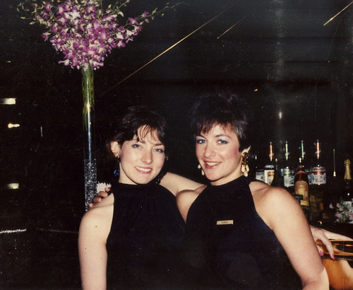 Corey Anderson and me, in our Lobby Bar uniforms (1987) | by KLGreenNYC
