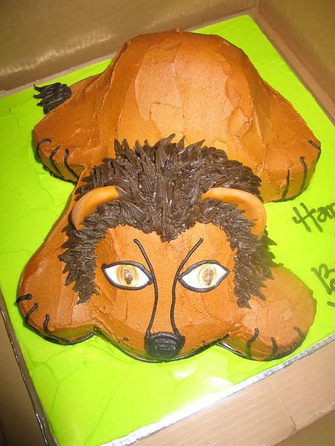 Sensational 3D Lion Birthday Cake Charlys Bakery Flickr Funny Birthday Cards Online Alyptdamsfinfo