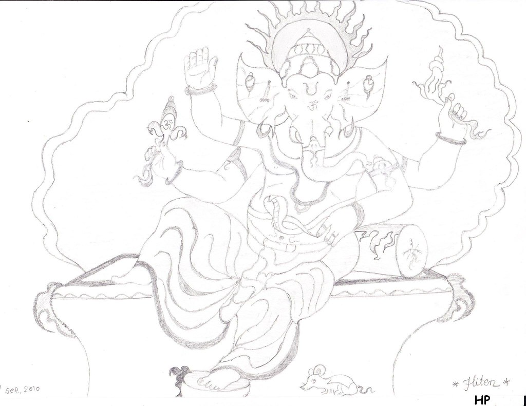 Ganesh sketch by creative p