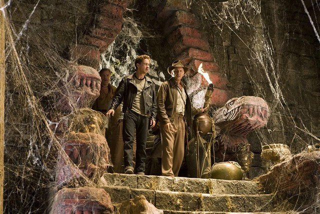 Indy and Mutt enter the Temple