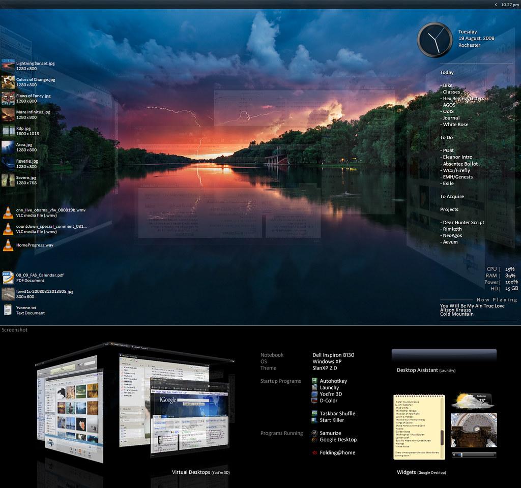 Lightning Sunset Desktop 12
