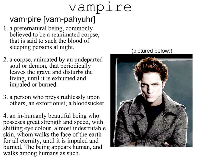 Twilight- Vampire Definition | haha | Sarah W  | Flickr