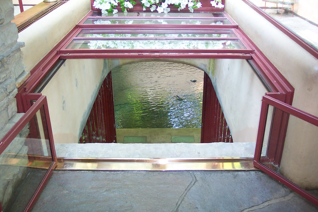 Inside Falling Water These Stairs Are Located In The