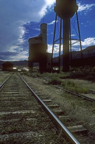 blue sky clouds landscape nevada trains roadtrip mining rails kodachrome highway50 greatbasin canonf1 nevadanorthern