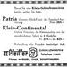 Continental typewriter ads