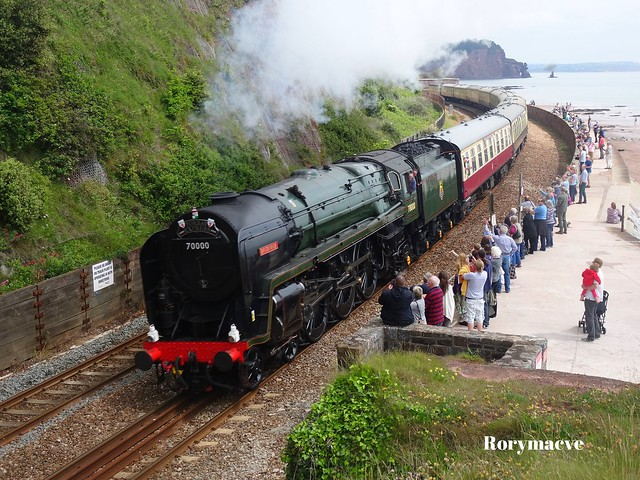 British Railways 70000 'Britannia' at Teignmouth