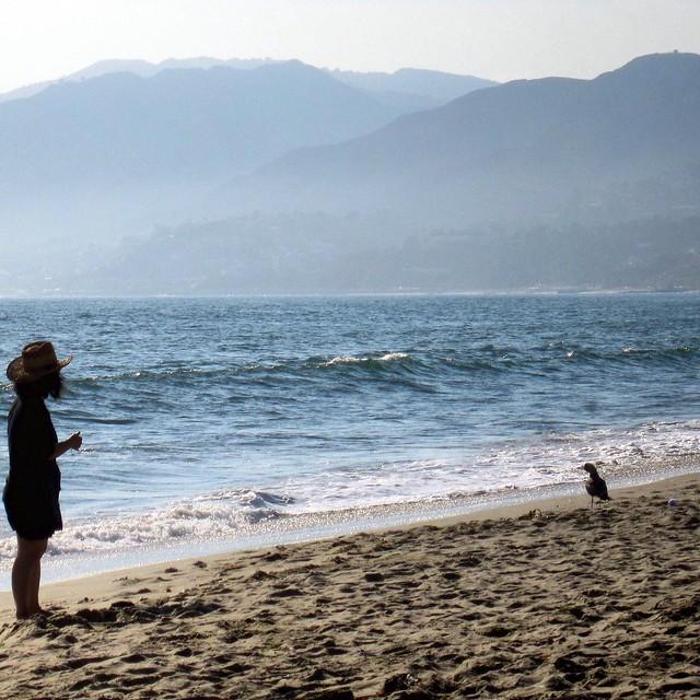 """""""Even Cowgirls Get the Blues"""" ―Gus Van Sant, 1993 (at Santa Monica Beach) ☁️ ⛰ 🌊"""