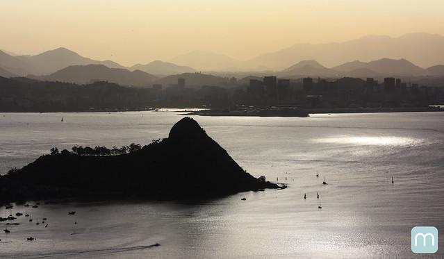 Morro do Morcego na Baia de Guanabara