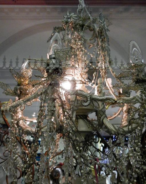 A chandelier in the Cork market, Ireland