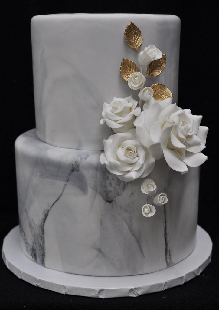 Phenomenal Marble And Rose Birthday Cake Jenny Wenny Flickr Funny Birthday Cards Online Fluifree Goldxyz
