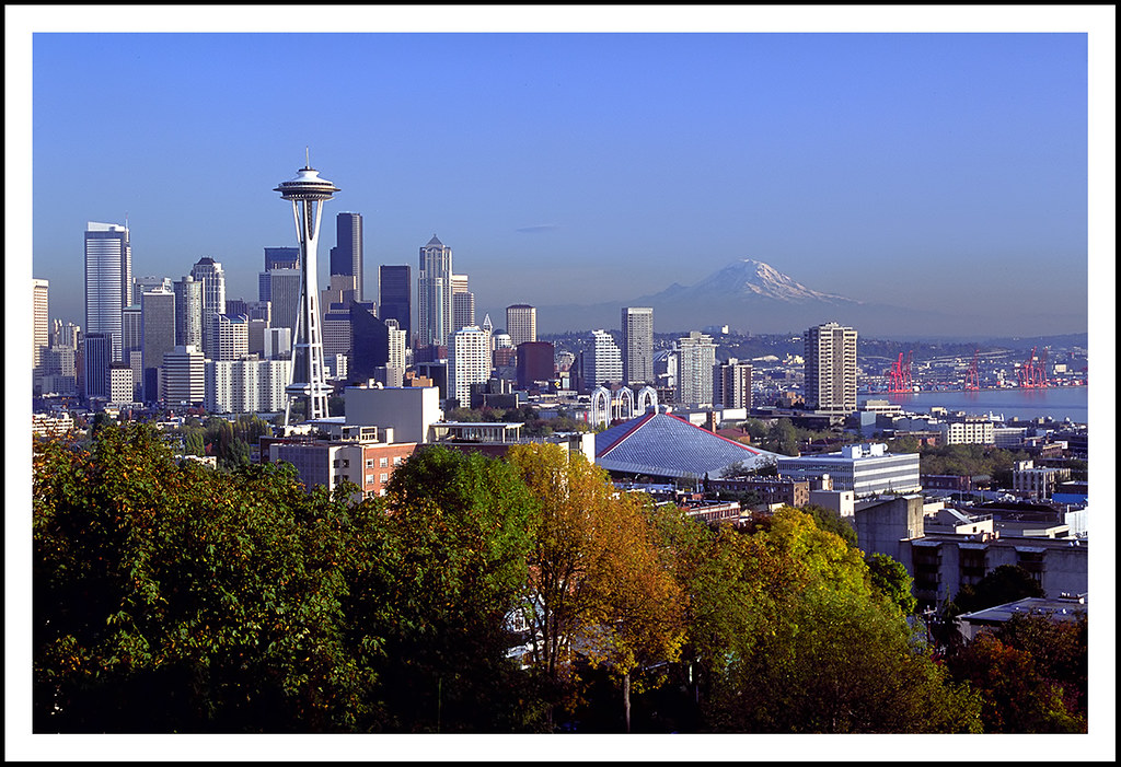 Seattle Skyline From Kerry Park - 1992 by sjb4photos