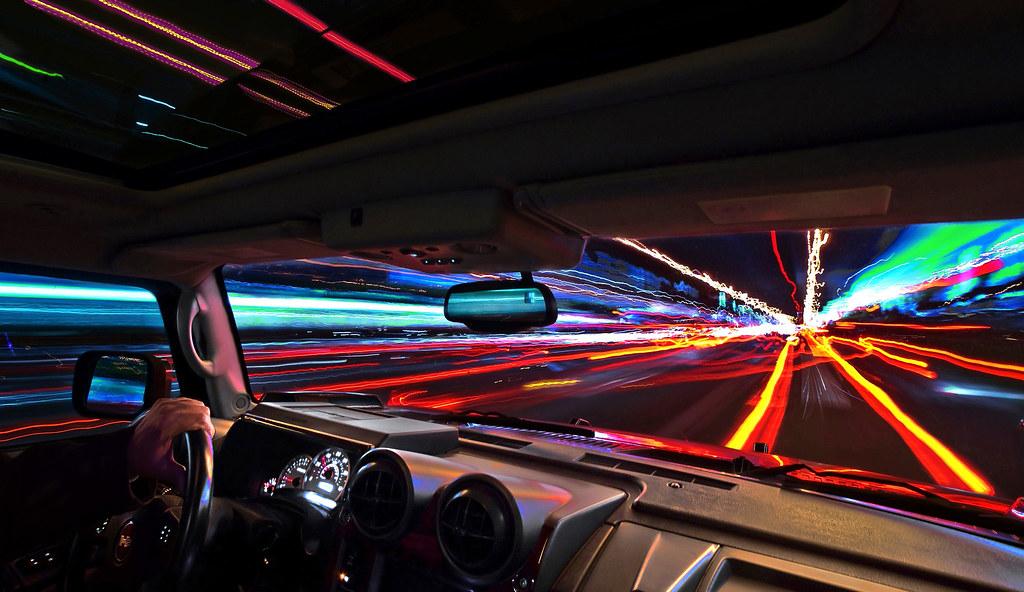 serie de fotos de senderos de automóviles