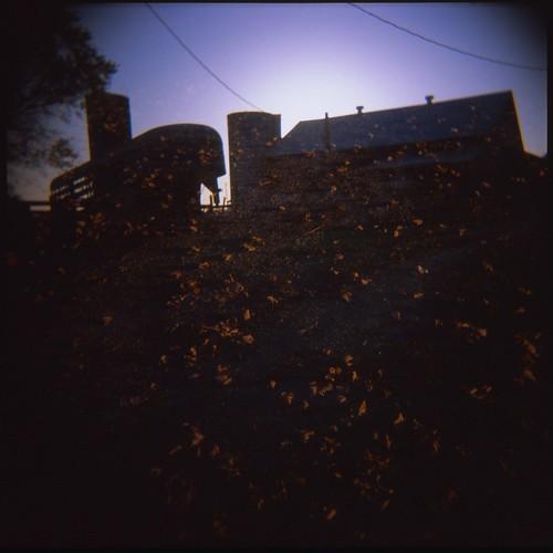 sunset 120 film farmhouse barn analog mediumformat square doubleexposure farm country indiana silo 120film multipleexposure oldhouse salem trailer analogphotography countryhouse multiexposure oldhome countryhome salemin salemindiana farmyhouse