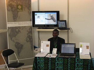 Aluka Booth at eLearning Africa Conference 2008 in Accra, Ghana