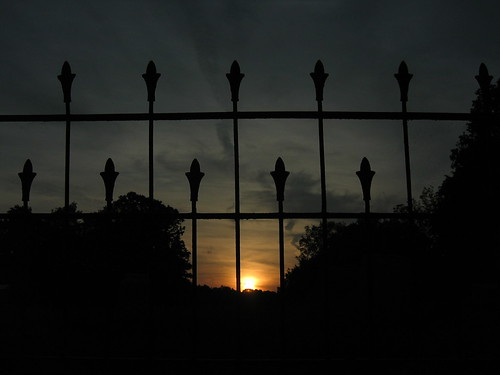 sunset ohio fence cemetary wroughtiron senecaville
