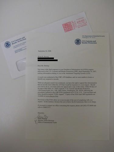 FOIA CBP ATS Letter | by herzogbr