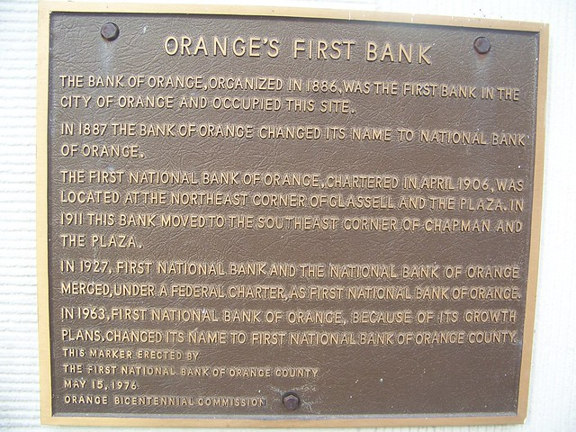 The First National Bank of Orange/Wells Fargo