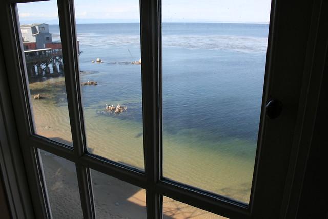 Monterey Bay thru the window