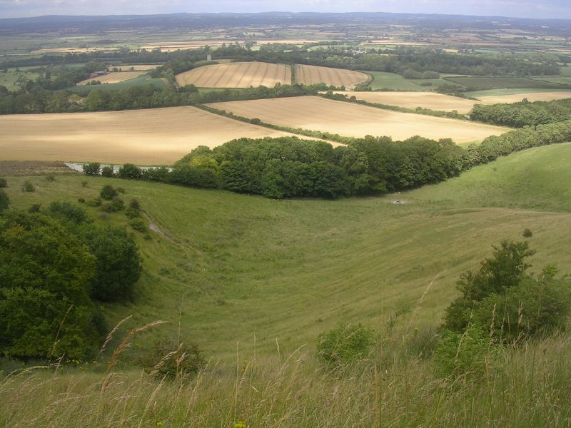 View back from Firle climb Lewes to Berwick via West Firle