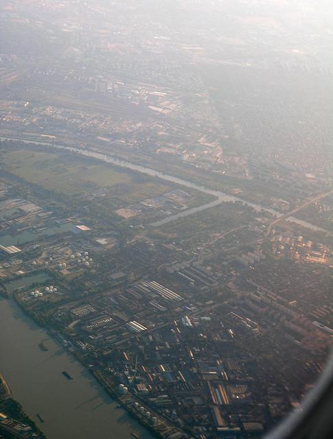 Budapest - Csepel island aerial 3