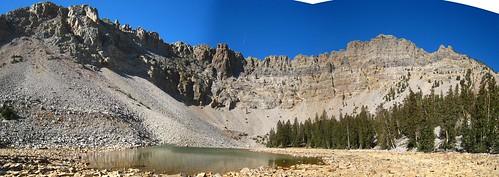 Panorama of Baker Lake in Great Basin National Park, Nevada