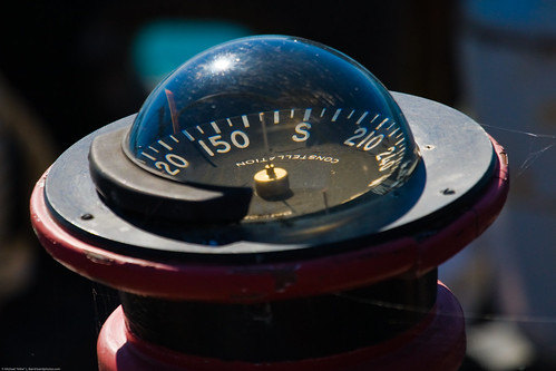 Compass on deck of derelict fishing ship | by mikebaird