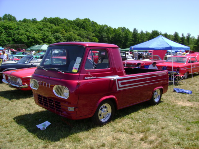1961-67 Ford Econoline pickup   On of the window stickers ha