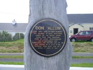 Don Allum plaque, Achill Island