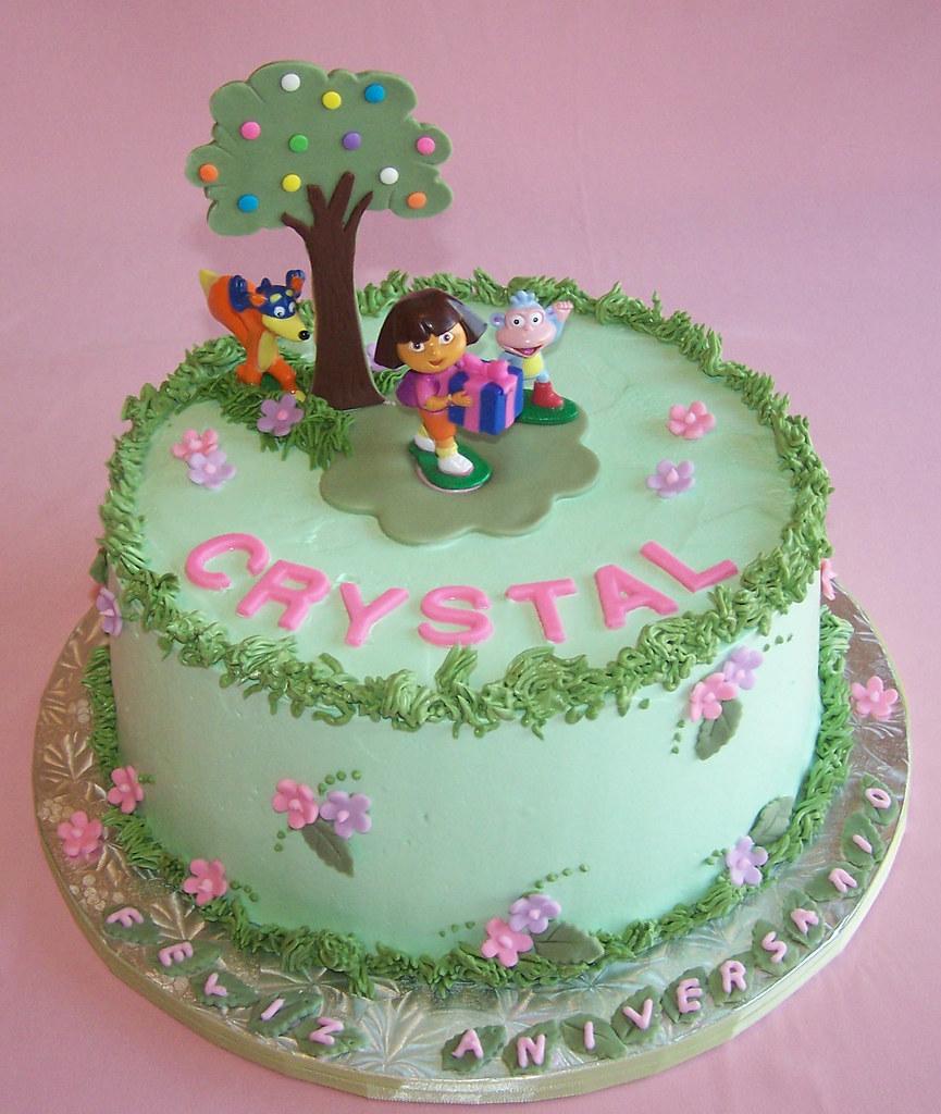 Marvelous Dora Cake Happy Birthday Crystal Beth Flickr Birthday Cards Printable Benkemecafe Filternl