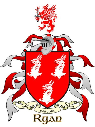 Ryan's of Munster COA or 'three silver griffin heads upon a coat of arms' : some history of the Tipperary & Limerick 'Mulryans' | by mikescottnz