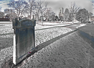 Christina Collins grave - Rugeley Staffs   by Dave Hanmer