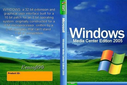 Microsoft Windows XP Media Center Edition 2005 Dell OEM Or