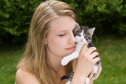 Marianne and kitten 2 | by Ann Elisabeth