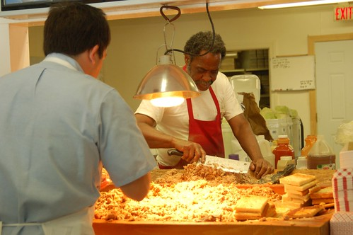 Skylight Inn, Ayden, NC: Pit Boss Mixing Whole Hog Barbecue (Dignity Hunt XX) | by Rob Bellinger