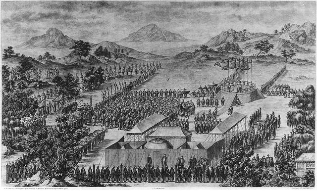 Giuseppe Castiglione, Jean Damascèe「郊勞回部成功諸将士」(1770)