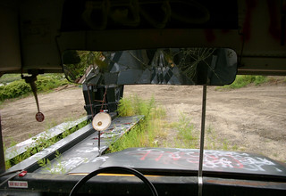 Staging Area - School Bus - Rear-View Mirror | by Hetx