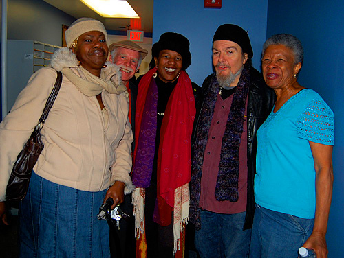 Juanita Brooks, Amasa Miller, Charmaine Neville, Dr. John and Germaine Bazzle at WWOZ in 2008.
