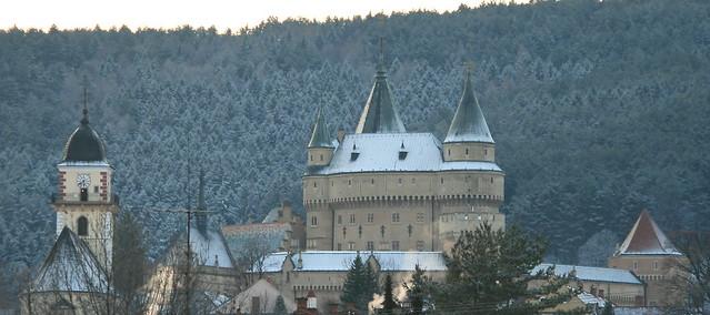 Bojnice - Castle + Church, Slovakia