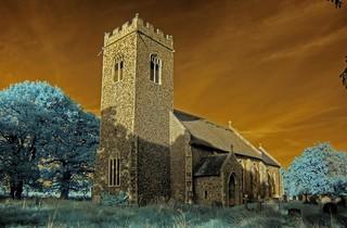 Infrared St Nicholas church Swafield Norfolk | by Brokentaco